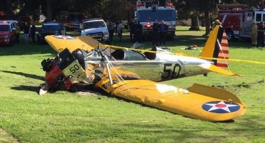 Se desploma en su avioneta Harrison Ford-1